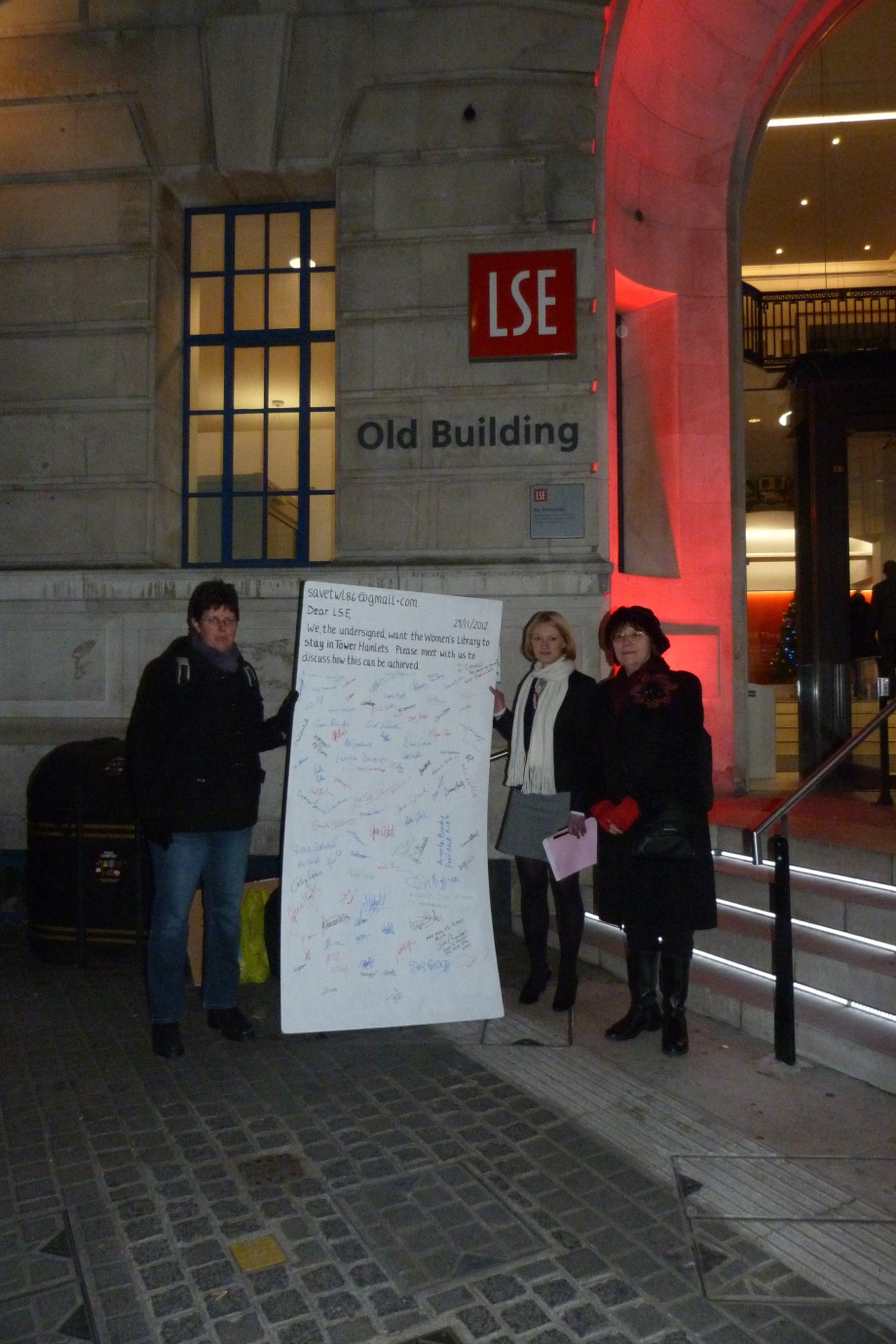 delivering letter to LSE