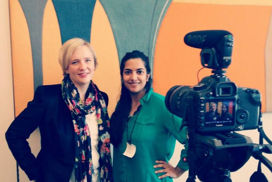Stella Creasy MP, Patron of Rooms of our Own, with Board Member Nabila Pathan