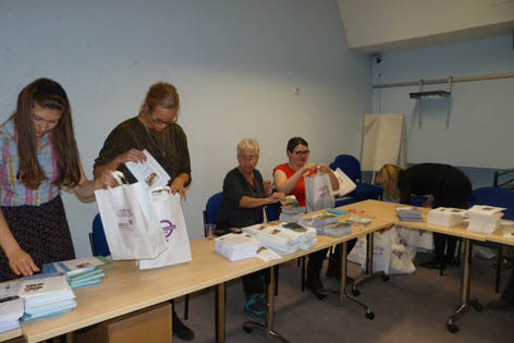 Packing the Goody Bags